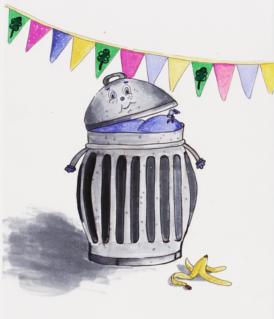 увеличение мусора в праздники